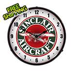 Collectable Sign and Clock Sinclair Aircraft Backlit Wall Clock