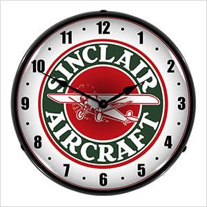 Sinclair Aircraft Backlit Wall Clock