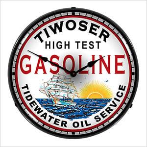 Tiwoser Gasoline Backlit Wall Clock