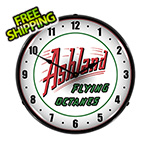 Collectable Sign and Clock Ashland Flying Octanes Backlit Wall Clock