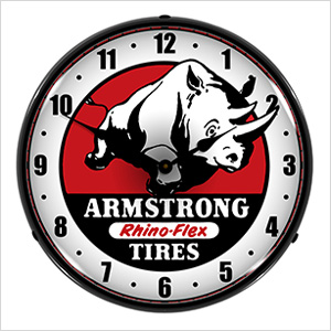 Armstrong Tires Backlit Wall Clock
