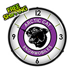 Collectable Sign and Clock Arctic Cat Snowmobiles Backlit Wall Clock