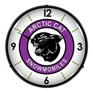 Arctic Cat Snowmobiles Backlit Wall Clock