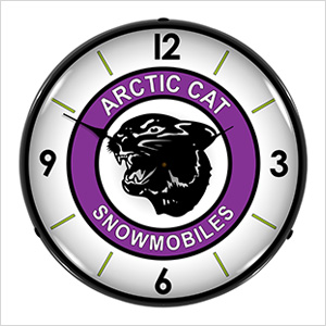 Arctic Cat Snowmobiles Backlit Wall Clock