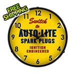 Collectable Sign and Clock Autolite Spark Plugs Backlit Wall Clock