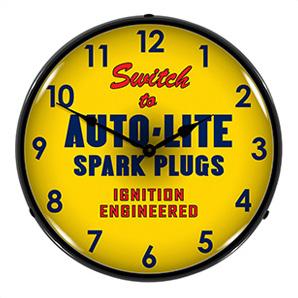 Autolite Spark Plugs Backlit Wall Clock