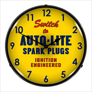 Autolite Spark Plugs Backlit Wall Clock