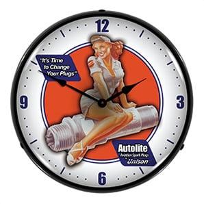 Autolite Aviation Backlit Wall Clock