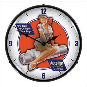 Autolite Aviation Backlit Wall Clock