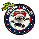 Collectable Sign and Clock Bonneville Salt Flats Backlit Wall Clock