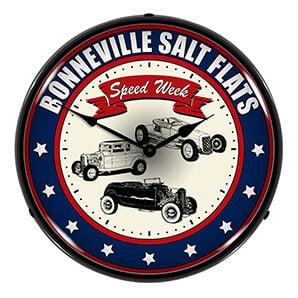 Bonneville Salt Flats Backlit Wall Clock