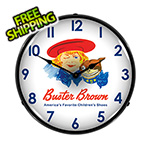 Collectable Sign and Clock Buster Brown Backlit Wall Clock
