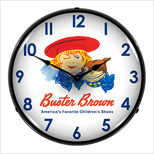 Buster Brown Backlit Wall Clock