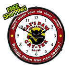 Collectable Sign and Clock Cat-Tex Soles Backlit Wall Clock