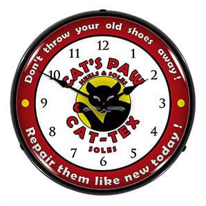 Cat-tex Soles Backlit Wall Clock