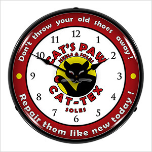 Cat-Tex Soles Backlit Wall Clock