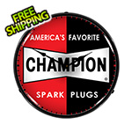 Collectable Sign and Clock Champion Spark Plugs Backlit Wall Clock