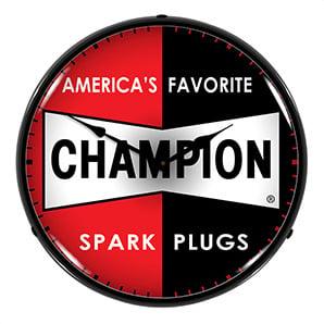 Champion Spark Plugs Backlit Wall Clock