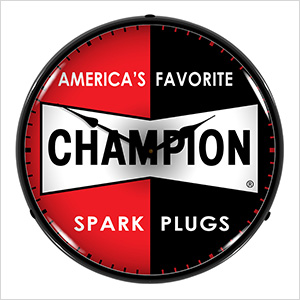 Champion Spark Plugs Backlit Wall Clock
