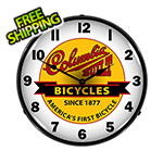 Collectable Sign and Clock Columbia Bicycles Backlit Wall Clock