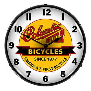 Columbia Bicycles Backlit Wall Clock