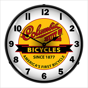 Columbia Bicycles Backlit Wall Clock