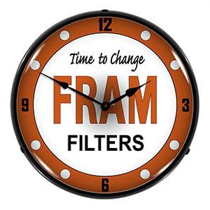 Fram Filters Backlit Wall Clock