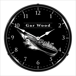 Gar Wood Boats Backlit Wall Clock
