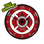 Collectable Sign and Clock IAFF Backlit Wall Clock