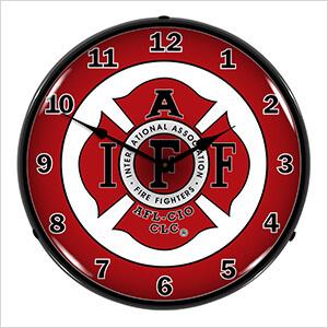 IAFF Backlit Wall Clock