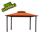 Paragon Outdoor 11 x 14 ft. Avalon Gazebo with Sunbrella Canopy (Rust Top)