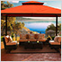 11 x 14 ft. Avalon Gazebo with Sunbrella Canopy (Rust Top)