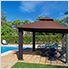 12 x 12 ft. Seville Gazebo with Sunbrella Canopy (Brown Top)