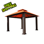 Paragon Outdoor 12 x 12 ft. Seville Gazebo with Sunbrella Canopy (Rust)