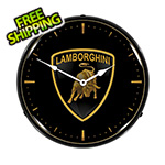 Collectable Sign and Clock Lamborghini Backlit Wall Clock