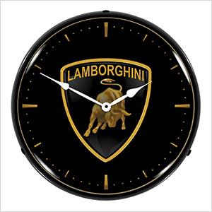 Lamborghini Backlit Wall Clock