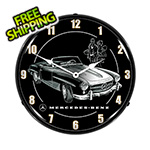 Collectable Sign and Clock Mercedes Convertible Backlit Wall Clock