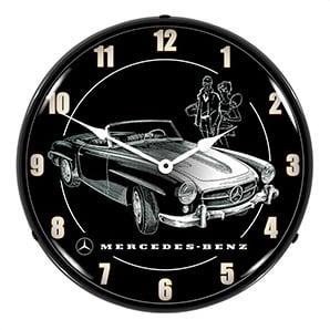 Mercedes Convertible Backlit Wall Clock