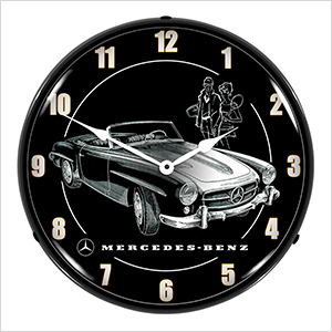 Mercedes Convertible Backlit Wall Clock