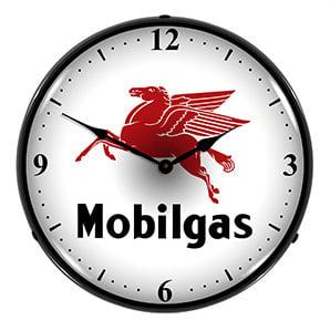 Mobilgas Backlit Wall Clock