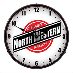 North Western Railway Backlit Wall Clock