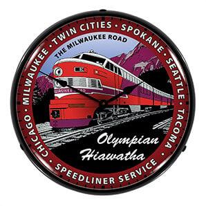 Olympian Hiawatha Backlit Wall Clock