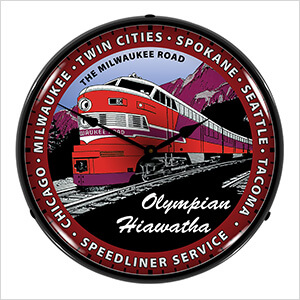 Olympian Hiawatha Backlit Wall Clock