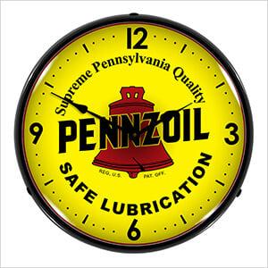 Pennzoil Backlit Wall Clock