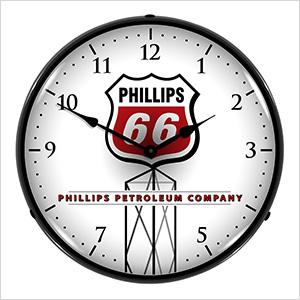 Phillips 66 Backlit Wall Clock