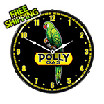 Collectable Sign and Clock Polly Gas Backlit Wall Clock