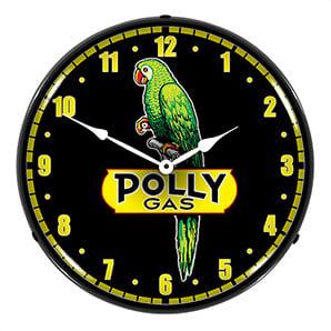 Polly Gas Backlit Wall Clock