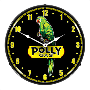 Polly Gas Backlit Wall Clock