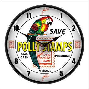 Polly Stamps Backlit Wall Clock