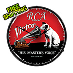 Collectable Sign and Clock RCA Victor Backlit Wall Clock